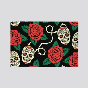 Skulls and Roses Magnets