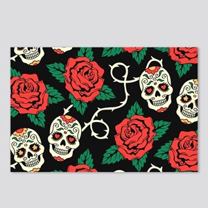 Skulls and Roses Postcards (Package of 8)