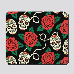 Skulls and Roses Mousepad