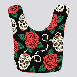 Skulls and Roses Bib