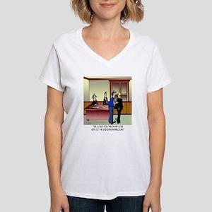 Bathroom Cartoon 8936 Women's V-Neck T-Shirt