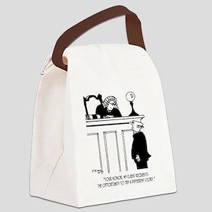 Attorney Cartoon 5496 Canvas Lunch Bag