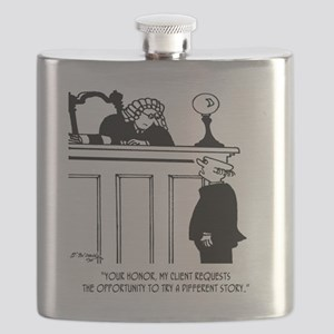 Attorney Cartoon 5496 Flask
