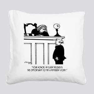 Attorney Cartoon 5496 Square Canvas Pillow