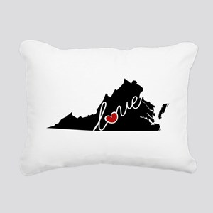 Virginia Love Rectangular Canvas Pillow
