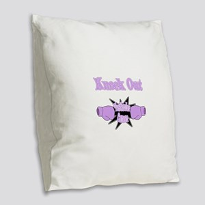 Knock Out Testicular Cancer lavender Burlap Th
