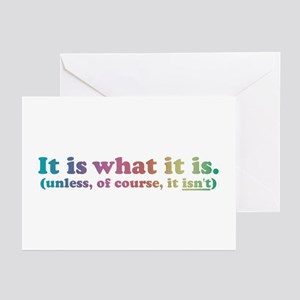 It Is What It Is Multi Greeting Cards (Package of