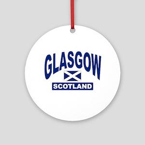 Glasgow Scotland Ornament (Round)