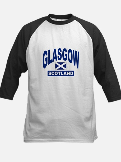 Glasgow Scotland Kids Baseball Jersey