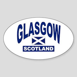 Glasgow Scotland Oval Sticker