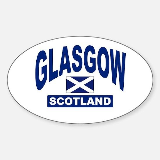 Glasgow Scotland Oval Decal