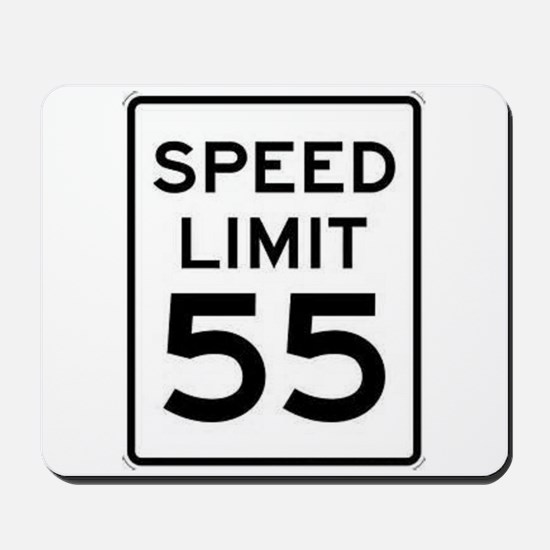 55-MPH Speed Limit Day Mousepad