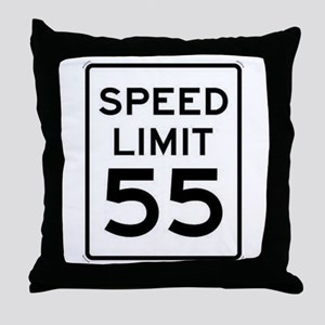 55-MPH Speed Limit Day Throw Pillow