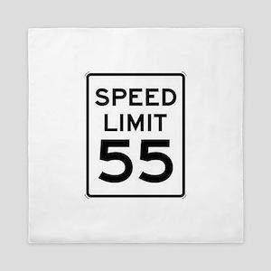 55-MPH Speed Limit Day Queen Duvet