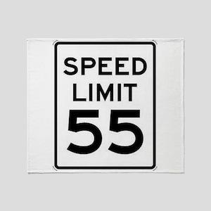 55-MPH Speed Limit Day Throw Blanket