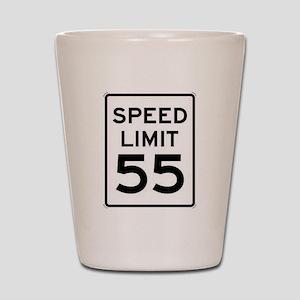 55-MPH Speed Limit Day Shot Glass
