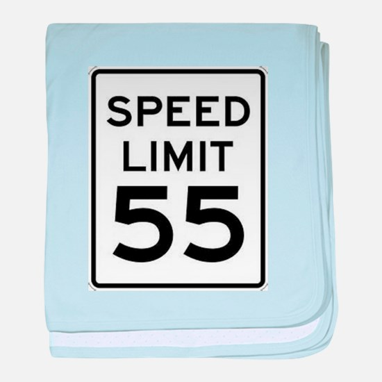 55-MPH Speed Limit Day baby blanket