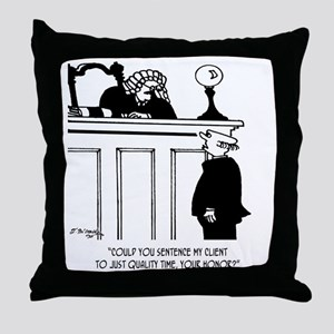 Lawyer Cartoon 5298 Throw Pillow