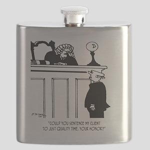 Lawyer Cartoon 5298 Flask