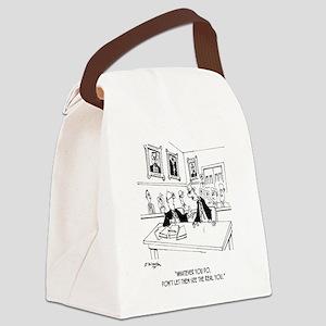 Attorney Cartoon 4970 Canvas Lunch Bag