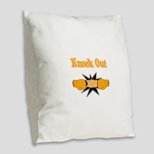 Knock Out rsds orange Burlap Throw Pillow