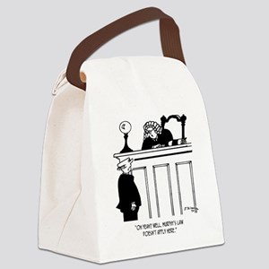 Judge Cartoon 4588 Canvas Lunch Bag