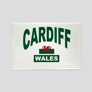 Cardiff Wales Rectangle Magnet