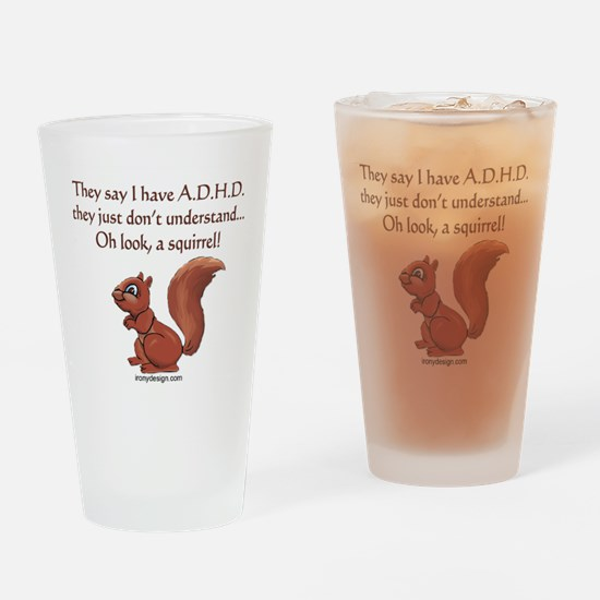 ADHD Squirrel Drinking Glass