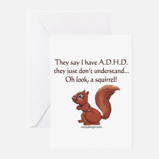 ADHD Squirrel Greeting Cards