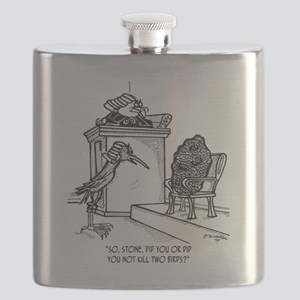 Bird Cartoon 2021 Flask