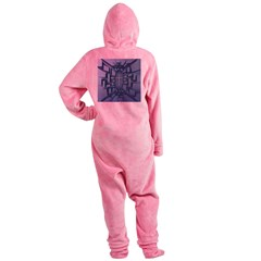 Abstract 3D Christian Cross Footed Pajamas
