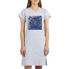 Abstract 3D Christian Cross Women's Nightshirt