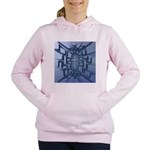 Abstract 3D Christian Cross Women's Hooded Sweatsh