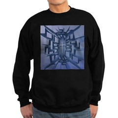 Abstract 3D Christian Cross Sweatshirt
