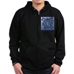 Abstract 3D Christian Cross Zip Hoodie