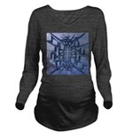 Abstract 3D Christian Cross Long Sleeve Maternity