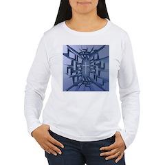Abstract 3D Christian Cross Long Sleeve T-Shirt