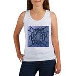 Abstract 3D Christian Cross Tank Top