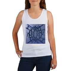 Abstract 3D Christian Cross Tank Top