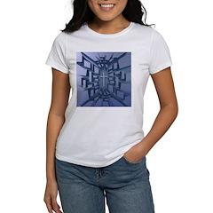 Abstract 3D Christian Cross T-Shirt