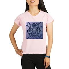 Abstract 3D Christian Cross Performance Dry T-Shir