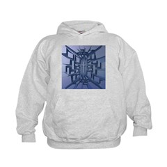Abstract 3D Christian Cross Hoodie