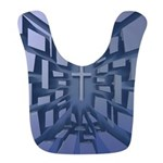 Abstract 3D Christian Cross Bib