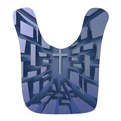 Abstract 3D Christian Cross Bib