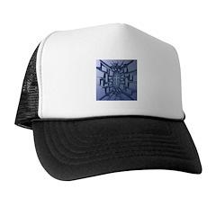 Abstract 3D Christian Cross Trucker Hat