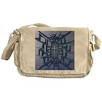 Abstract 3D Christian Cross Messenger Bag