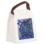 Abstract 3D Christian Cross Canvas Lunch Bag