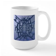 Abstract 3D Christian Cross Mugs