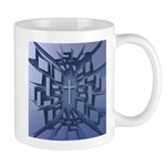 Abstract 3D Christian Cross Mugs