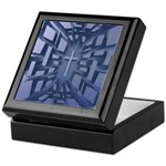 Abstract 3D Christian Cross Keepsake Box